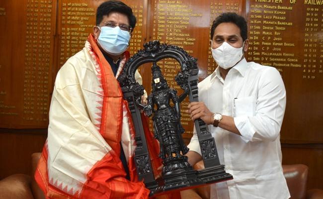CM YS Jagan meets Union Minister Piyush Goyal - Sakshi