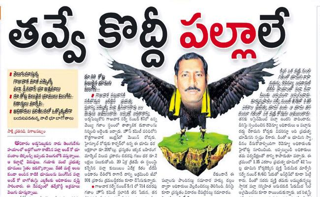 Palla Srinivasa Rao Land grabs and irregularities are coming to out one by one - Sakshi
