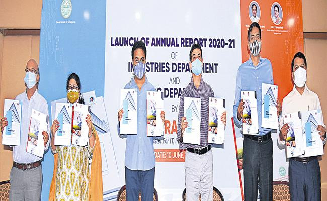 Minister KTR Launched IT Annual Report 2020-21 - Sakshi