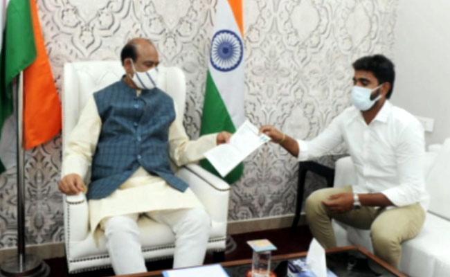 YSRCP MP Margani Bharat Demands Disqualify MP Raghurama Krishnam Raju - Sakshi
