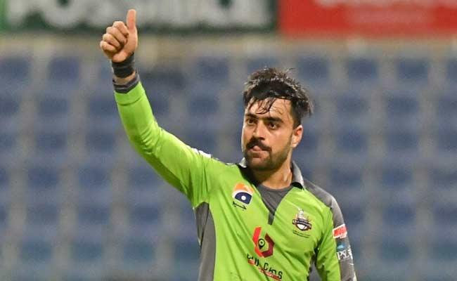 Rashid Khan 5 Wicket Haul Against Peshawar Zalmi Super Victory Qalandars - Sakshi