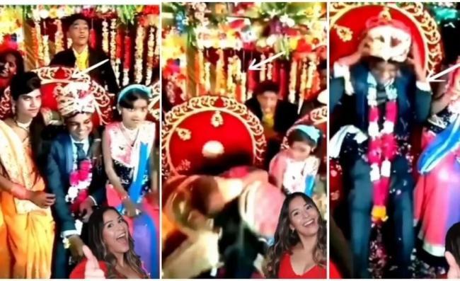 Bride Sister Kisses Groom on Wedding Stage Video Goes Viral - Sakshi