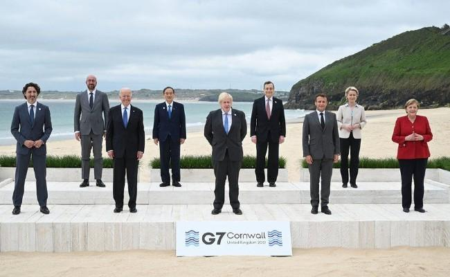 G 7 summit ends: Commitment on vaccines, climate change - Sakshi