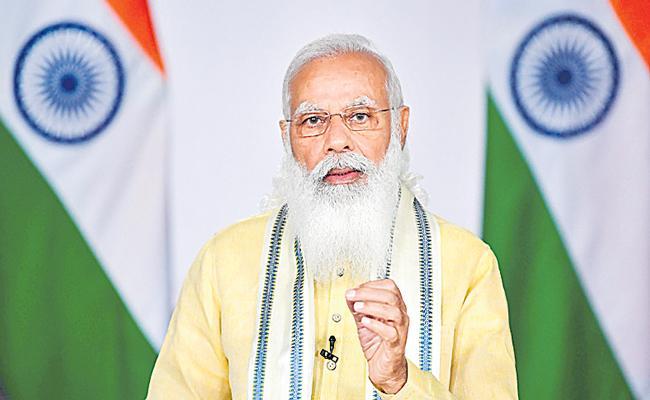 PM Narendra Modi addresses G7 outreach session - Sakshi
