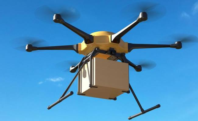 Centre Govt Invites Bids For Drone Delivery System Which Is Developed By ICMR, IIT Kanpur  - Sakshi
