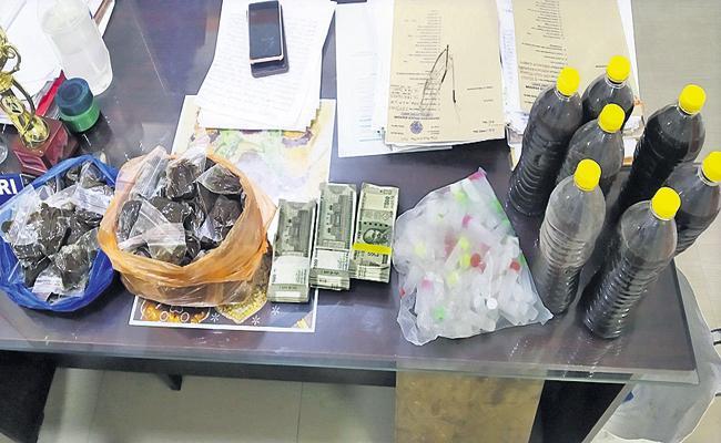 Man arrested for selling medicine under the name Anandaiah - Sakshi