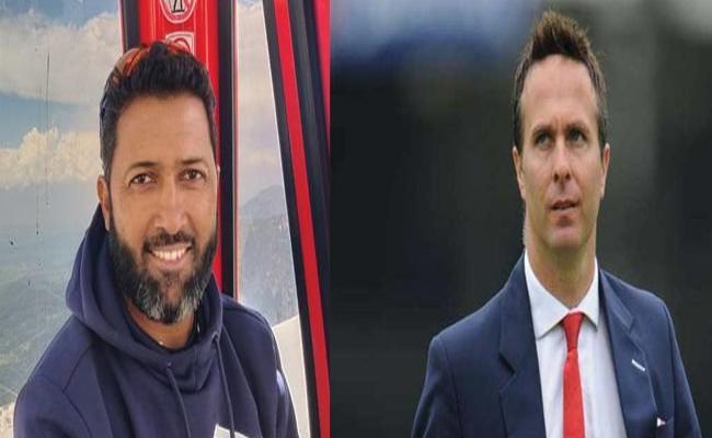 WTC Final: Wasim Jaffer Trolls Michael Vaughan On New Zealand To Win - Sakshi