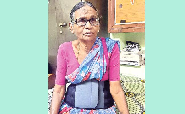Mother Neglected By Her Son  In Warangal  - Sakshi