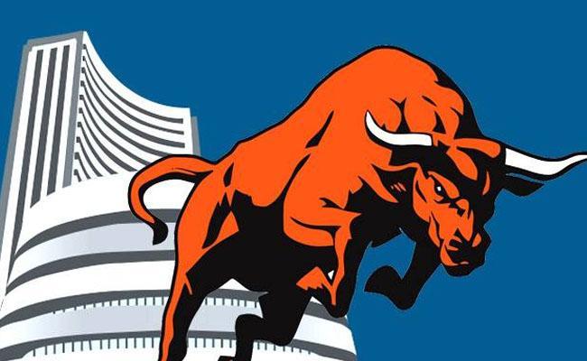 Sensex Nifty Close At Record Highs - Sakshi