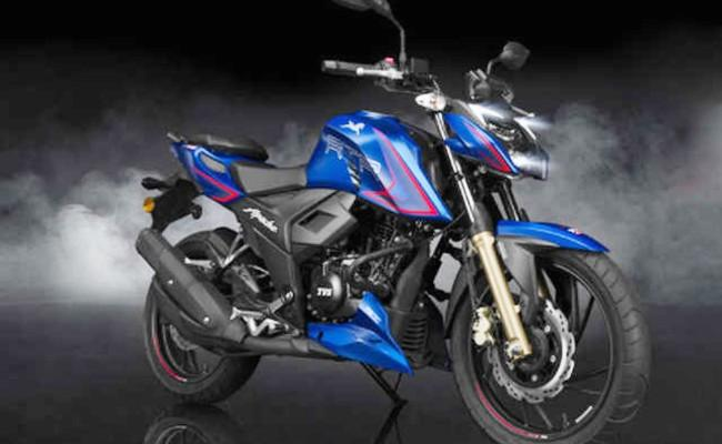 TVS Apache RTR 200 4V available with savings of up to Rs 10000 - Sakshi