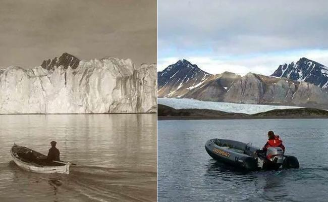 Global Warming Effect Reflect In A Twitter Post, Glaciers Disappeared In Two Photos Were Took In The Gap of 103 Years - Sakshi