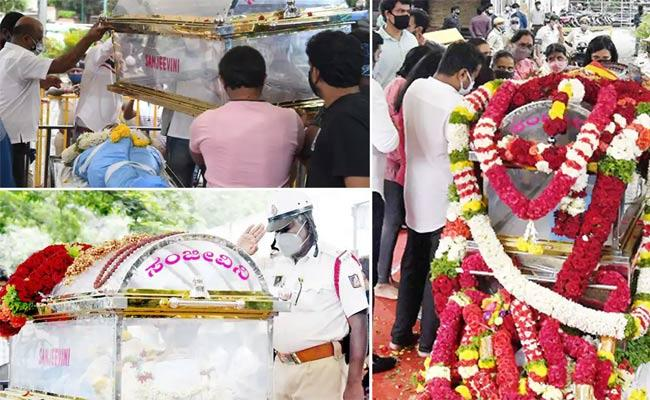 Kannada Actor Sanchari Vijay Cremated With State Honours - Sakshi
