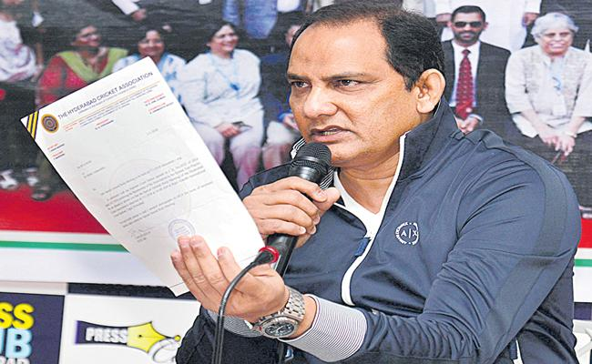 HCA apex council issues showcause notice to president Azharuddin - Sakshi