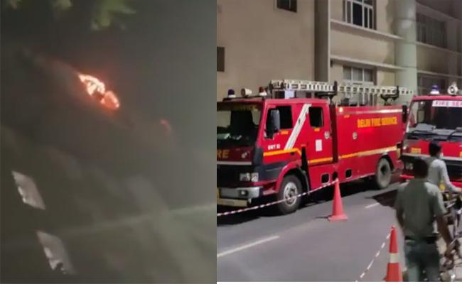 Fire Breaks Out At AIIMS Delhi Convergence Block - Sakshi
