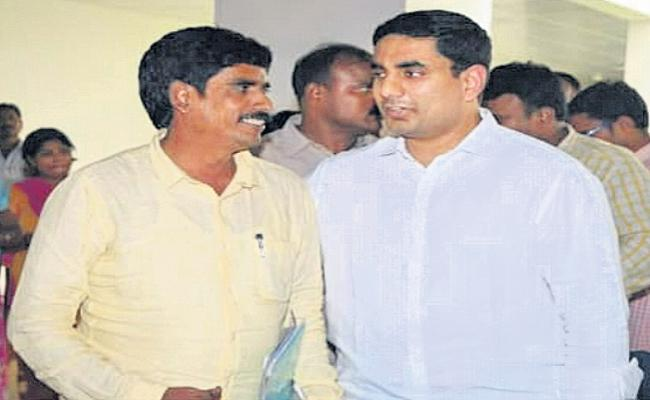 TDP activist fraud in the name of outsourcing employee - Sakshi