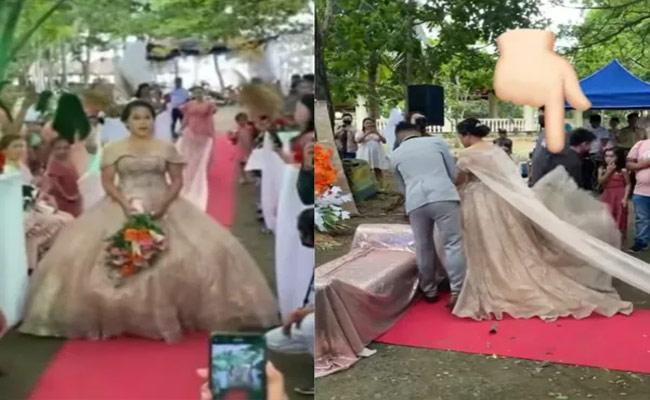 Viral Video: Man Hides Under Bride Wedding Dress, Do You Know Reason - Sakshi