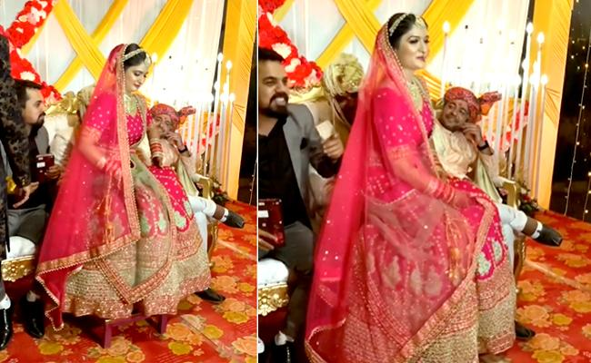 Viral Video: Bride Sits On Groom Lap As Her Place Occupied By His Friends - Sakshi