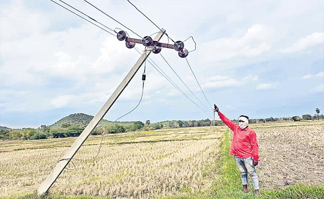 Negligence Of Electricity Authorities Hanging Power Cords Turning Death - Sakshi