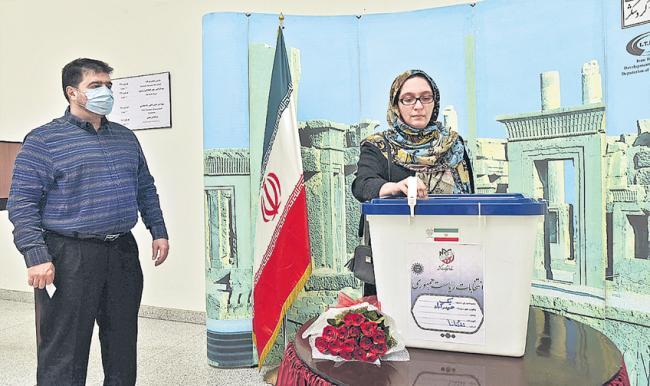 Iran President Election Vioting In Hyderabad  By Iran People - Sakshi