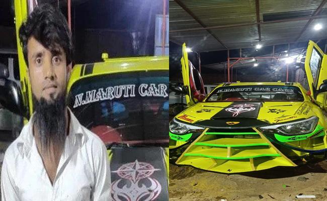 Maruti Suzuki Swift converted into a Lamborghini by a mechanic from Assam - Sakshi
