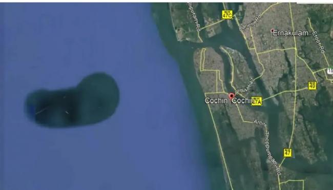 Mysterious Bean Shaped Structure Spotted Along Kochi Coast on Google Earth - Sakshi