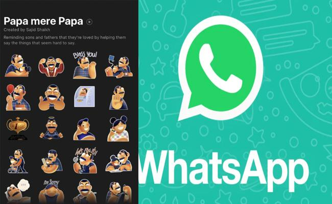 WhatsApp launches Papa mere papa sticker pack in India for - Sakshi