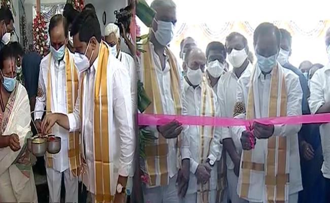 CM KCR Inaugurates Siddipet MLA Office And Police Commissionerate Buildings - Sakshi