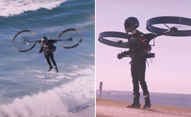 Australia Company Design Electric Backpack Personal Helicopter - Sakshi
