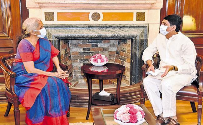 Buggana Rajendranath appeals to Nirmala Sitharaman about Pending funds - Sakshi