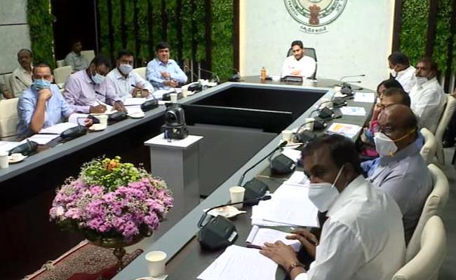 CM YS Jagan Review Meeting On Housing And Jagananna Colonies At Tadepalli - Sakshi