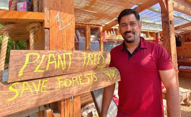 MS Dhoni Shares Message To Plant Trees But Fans Fires On His Comments - Sakshi
