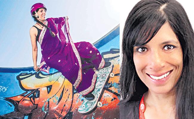 Aunty In Saree Slays Skateboarding Becomes Sensation Overnight - Sakshi
