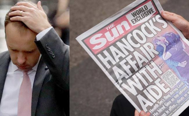Covid Violation Row UK Minister Matt Hancock Resigns After Kissing Side - Sakshi