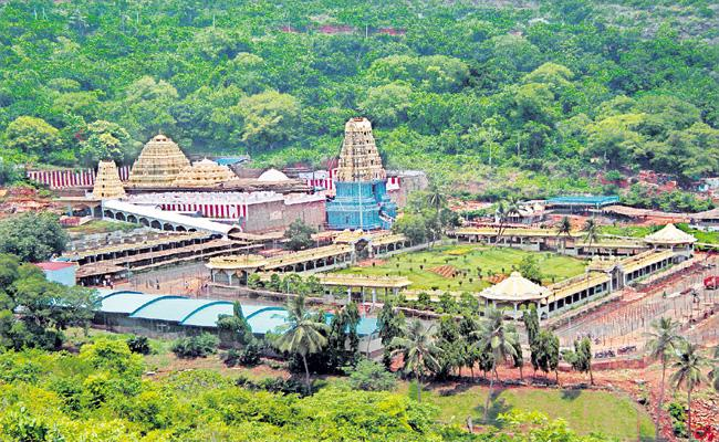 TDP govt removed 748 acres from the Simhachalam temple property list - Sakshi