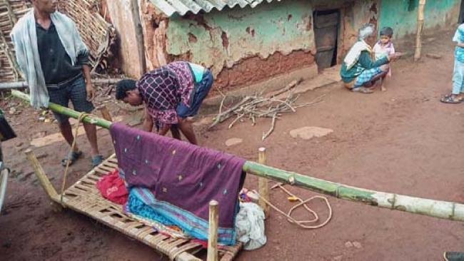 Pregnant Lady Carrying 3 Kilometers Without Ambulance In Odisha - Sakshi