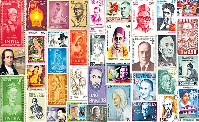BHEL Chief Vigilance Officer Collected Poets postage stamps Over Literature - Sakshi