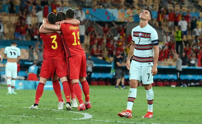 Euro 2020: Hazard Goal Helps Belgium Knockout Portugal Where Ronaldo Seen Emotional - Sakshi