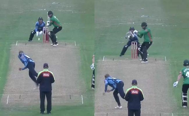 Joe Root Bowls Unseen Off Spin Bouncer Batsman Smashed Boundary Viral - Sakshi