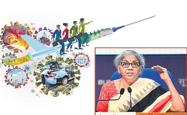 FM Nirmala Sitharaman Rs 6.28 lakh crore Covid stimulus package - Sakshi