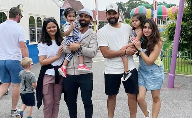 Ajinkya Rahane And Rohit Sharma Enjoy Outdoor Time With Their Daughters - Sakshi