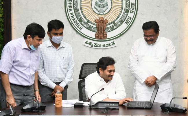 CM YS Jagan Launched YSR Jagananna Colonies Project Works - Sakshi