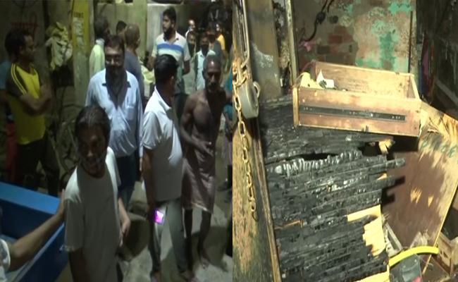 Fire Accident Of Gas Cylinder Blast In Delhi - Sakshi