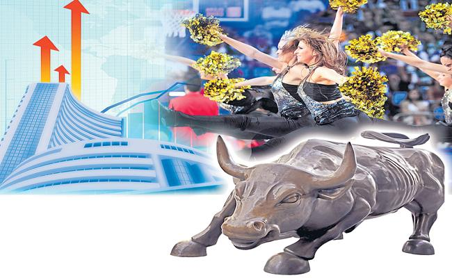 Indian stock markets rise ahead of RBI policy review meeting - Sakshi