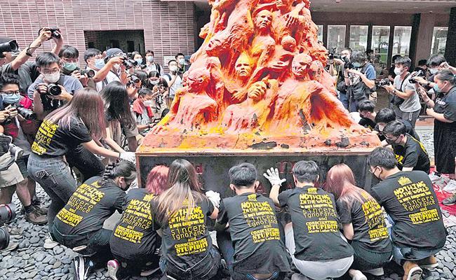 China silencing of Tiananmen tributes extends to Hong Kong - Sakshi