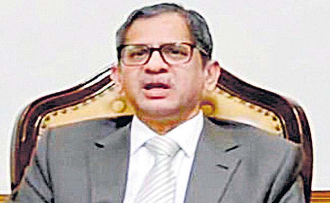 CJI Takes Stock of Judicial Functioning During Pandemic - Sakshi