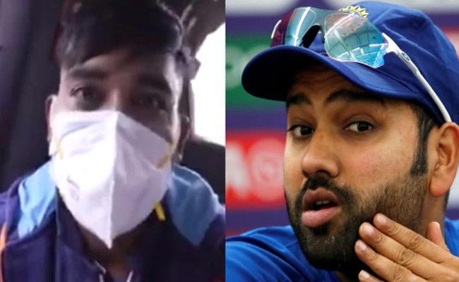 Mohammed Siraj complains Rohit Sharma Not Letting Him Sleep Flight - Sakshi