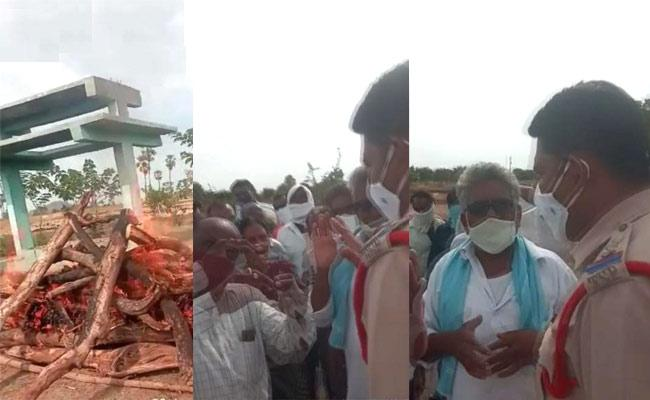 Kadem ZPTC Followers Attack On Police At Nirmal District - Sakshi