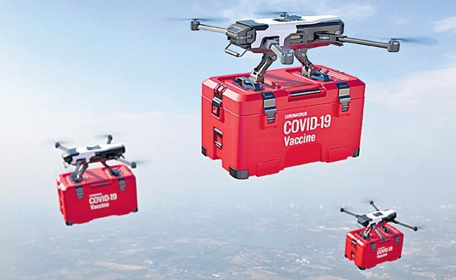 Coronavirus: Covid Vaccine Delivery Through Drones In Telangana - Sakshi