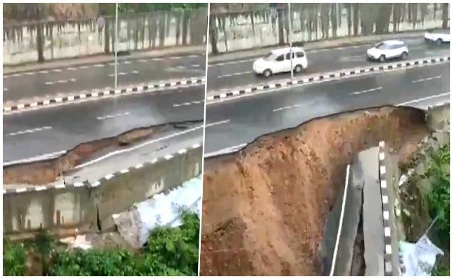 National Highway Collapse In Arunachal Pradesh Due To Heavy Rain - Sakshi