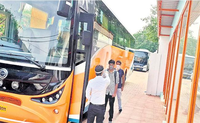 Private Bus Travels Collects Double Rate Ticket Price Ts Andhra pradesh lockdown - Sakshi